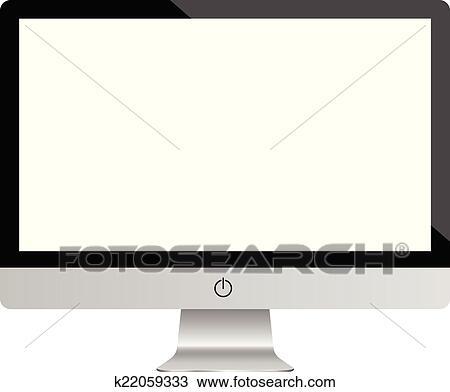 clipart of computer monitor realistic k22059333 search clip art