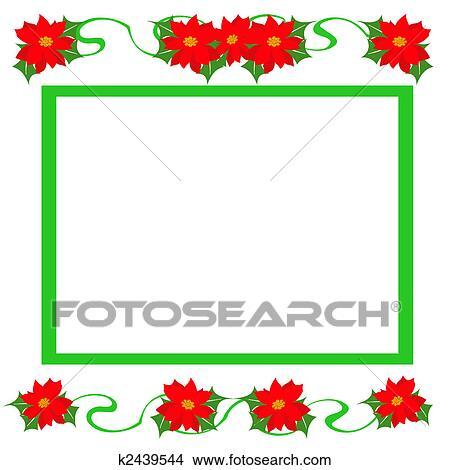 Dibujos Navidad Flor De Nochebuena Marco K2439544 Buscar Clip