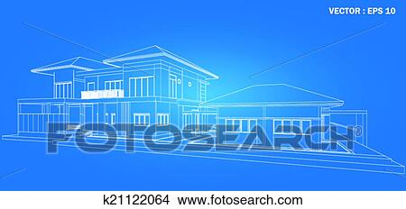 clipart of 3d render of building wireframe k21122064 search clip