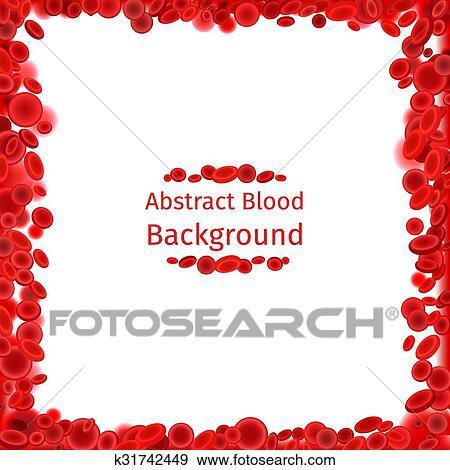 Clip Art - células sangre, marco, para, médico, cartel k31742449 ...