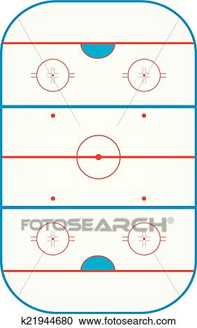 Patinoire hockey glace clipart k21944680 fotosearch - Dessin patinoire ...
