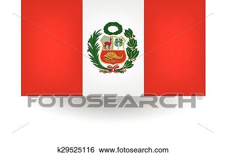 clip art of peru flag k29525116 search clipart illustration