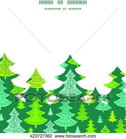 Christmas Trees Silhouette.Vector Holiday Christmas Trees Christmas Tree Silhouette Pattern Frame Card Template Clipart
