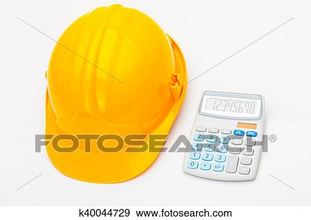 Stock Illustration Of Yellow Measure Tape With Calculator Near It