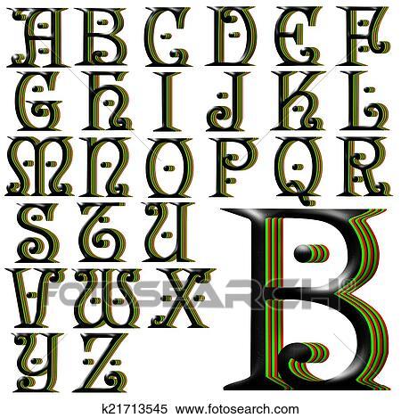 Stock Illustration Of ABC Alphabet Lettering Design K21713545