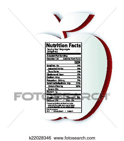 Clip Art Of Apple Nutrition Facts Label K22028346