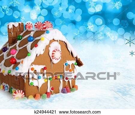 Christmas Gingerbread House Cartoon.Christmas Gingerbread House Stock Image