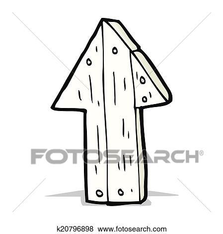 Dessin De Fleche clipart - dessin animé, bois, flèche direction k20796898