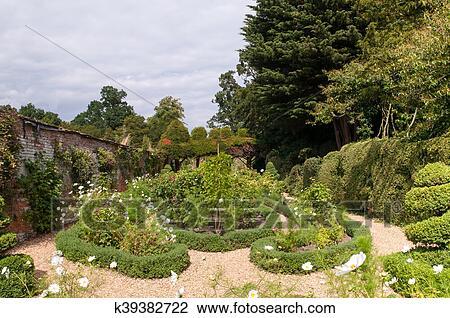 Jardin formel, plate-bande Banque d\'Image