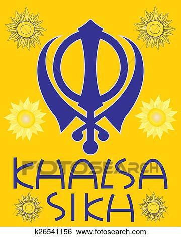 Clip Art Of Khalsa Greeting K26541156 Search Clipart Illustration