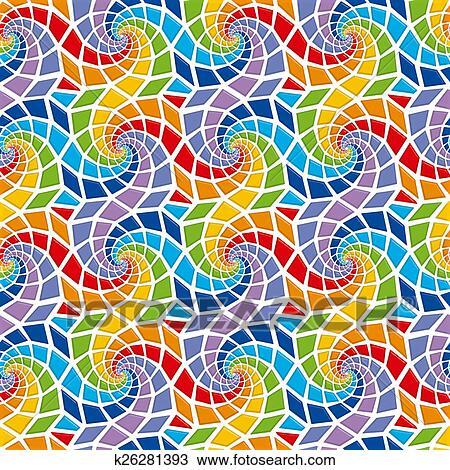 Disegno Mosaico Seamless Modello K26281393 Cerca Clipart