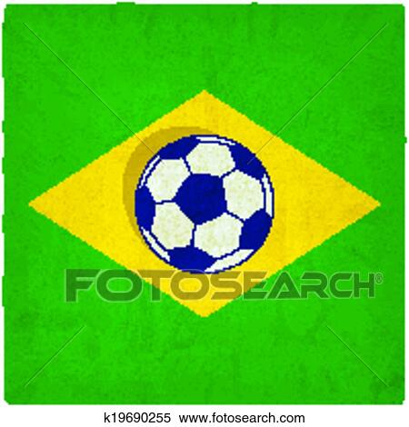 Brasilien Fussball Alt Hintergrund Clipart