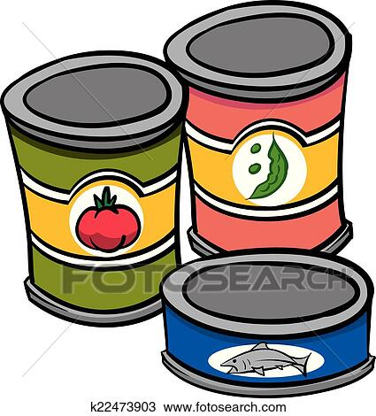 Clipart Of Cannedfood K22473903 Search Clip Art Illustration