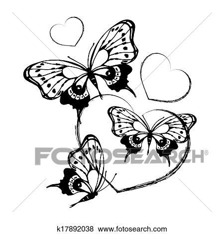 Archivio Illustrazioni Farfalle Disegno K17892038 Cerca Clipart