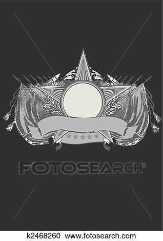 Heraldic Shield Clipart K2468260 Fotosearch