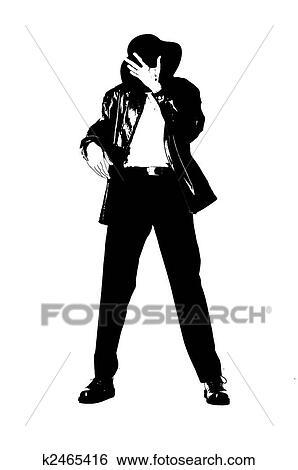 Michael Jackson Pose Stock Photograph K2465416 Fotosearch