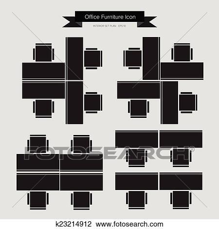 Clipart - büromöbel, symbol k23214912 - Suche Clip Art, Illustration ...