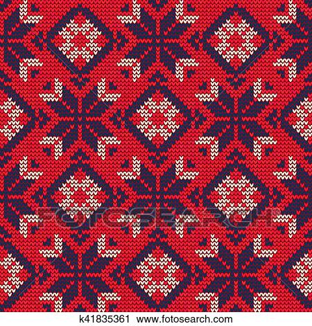 Christmas Sweater Pattern9 Clipart K41835361 Fotosearch