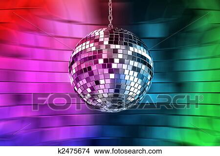 Disco Ball With Lights Retro Party Background