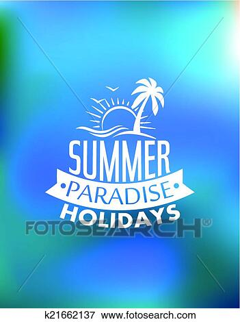 clip art of summer paradise poster design k21662137 search clipart