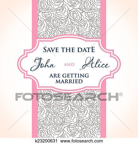 Wedding Invitation Card Design With Multicolored Drops