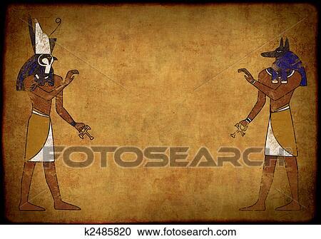 Anubis Y Horus Clipart K2485820 Fotosearch