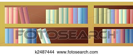 Tekeningen - boekenkast k2487444 - Zoek Clipart Illustraties ...