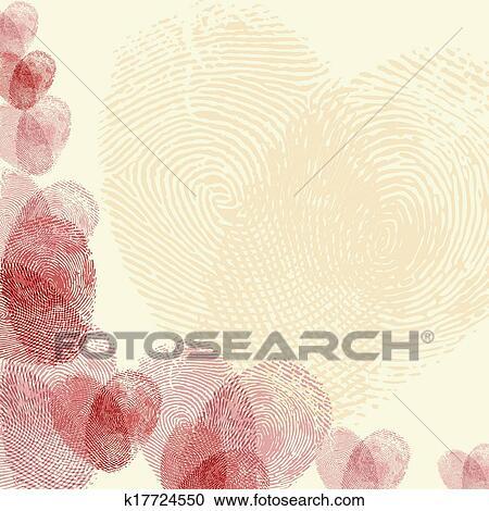 Clipart Fingerabdruck Herz K17724550 Suche Clip Art