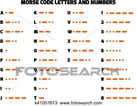 Code For Letters Of The Alphabet.International Morse Code Alphabet Clipart K41057613