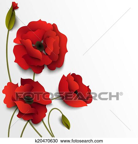 Clipart of poppy flowers paper floral background k20470630 search red poppy flowers paper floral background mightylinksfo