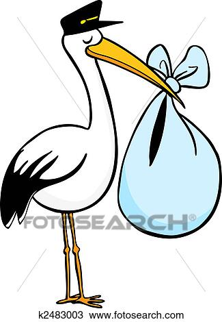 clipart of stork delivery k2483003 search clip art illustration rh fotosearch com stork clip art free stork clip art free downloads