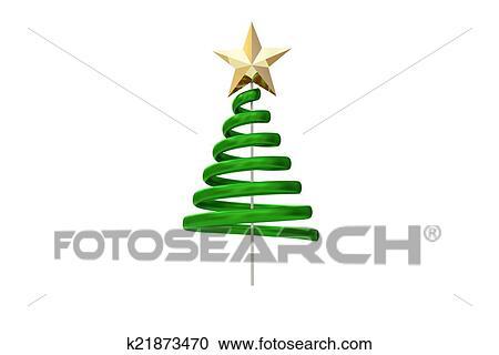Verde Arvore Natal Desenho Espiral Clipart K21873470 Fotosearch