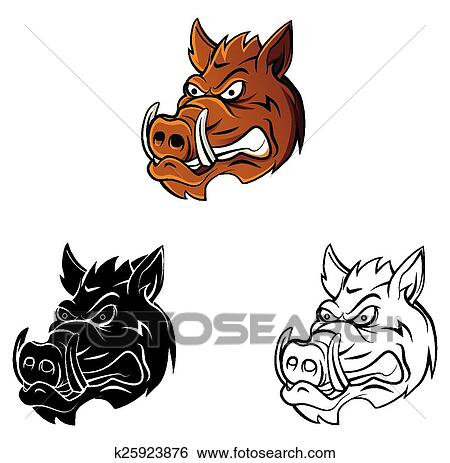 Clip Art Ausmalbilder Wildschwein Zeichen K25923876 Suche