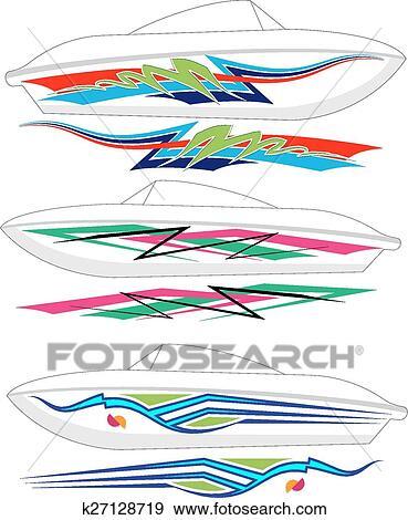Boat Graphics, Stripe: Vinyl Ready Clip Art