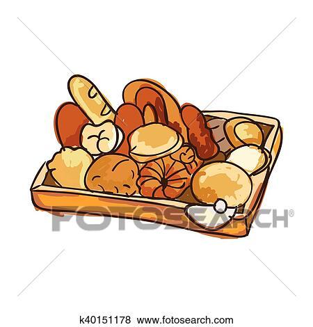 Clipart Boulangerie Pain Produits K40151178 Recherchez Des
