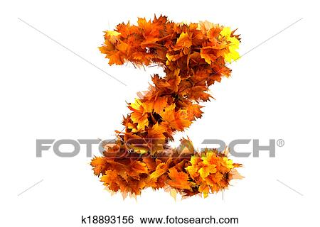 stock illustration fall alphabet letter z fotosearch search clip art drawings