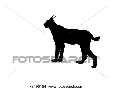 clipart of lynx silhouette vector k2495154 search clip art