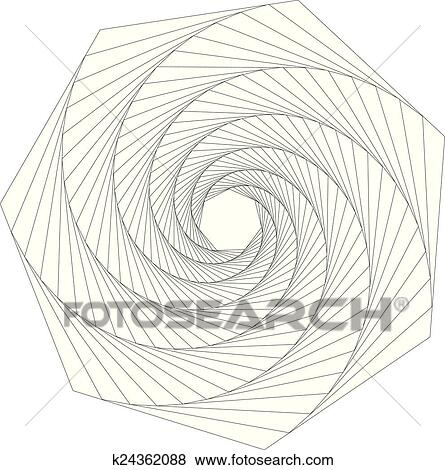 clip art of rotation heptagon abstract geometri k24362088 search