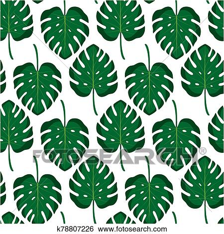 Seamless Pattern With Tropical Leaves Vector Illustration Clip Art K78807226 Fotosearch A beautiful set of japanese seamless vector patterns. fotosearch