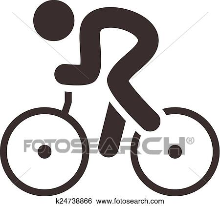clipart ciclismo estrada ícone k24738866 busca de clip art