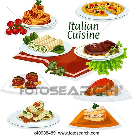 Clipart cuisine italienne d ner dessert dessin - Dessert dessin ...