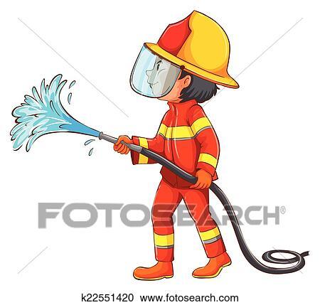 Clipart Feuerwehrmann K22551420 Suche Clip Art Illustration