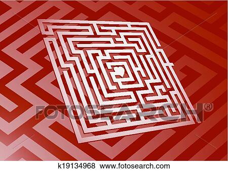 Heart Maze Clip Art | k19134968 | Fotosearch