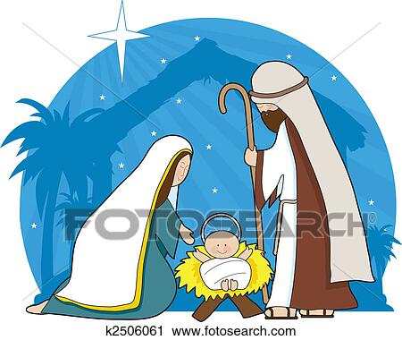clipart of nativity scene k2506061 search clip art illustration rh fotosearch com nativity scene clipart nativity scene clip art black and white