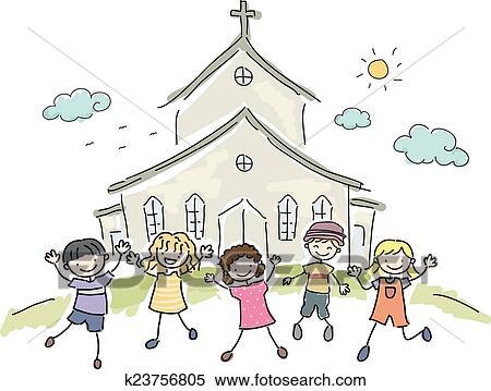 kids church clip art