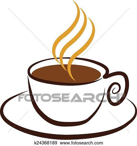 Clip Art - taza, café, logotipo k24368189 - Buscar Clip ...