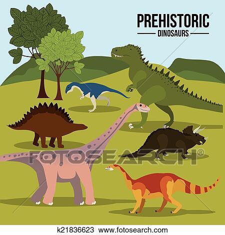 Dinossauro Desenho Clipart K21836623 Fotosearch