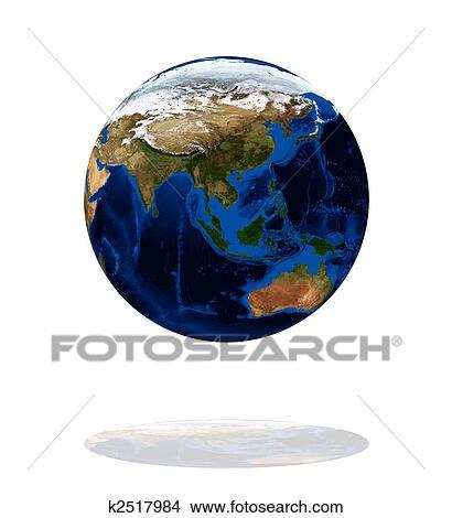 Rysunki Europa I Azja Na Ziemia Planeta K2517984 Szukaj