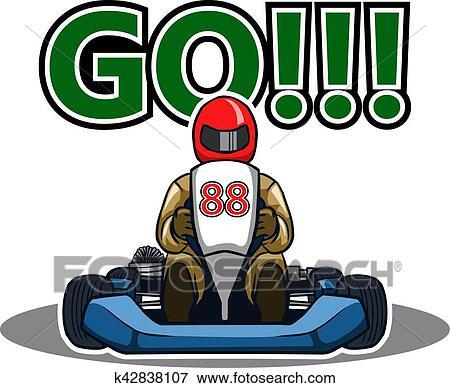 Familyfun Orangegocart - Go Kart Racing Icon Clipart (#4006122) - PinClipart
