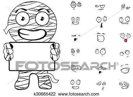 Momie Dessin Anime Emotions Set12 Clipart K30665422 Fotosearch